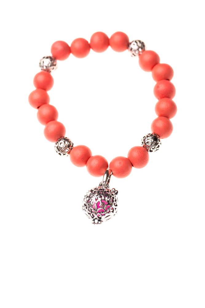 Essential Oil Bracelet Beaded Coral, Izzybell Jewelry (5)