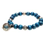 Essential Oil Bracelet Blue Beaded, Izzybell Jewelry (6)
