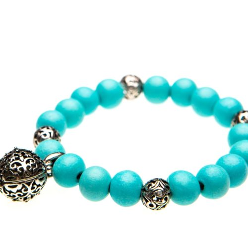 Essential Oil Bracelet Teal Beaded, Izzybell Jewelry (7) (1)