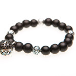 Essential Oil Diffuser Bracelet Black Beaded - Izzybell Jewelry