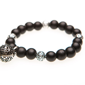 Essential Oil Diffuser Bracelet Black Beaded – Izzybell Jewelry