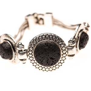 Essential Oil Diffuser Jewelry, Lava Rock Three-Stone Aromatherapy Bracelet – Izzybell Jewelry