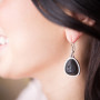 Essential Oil Diffuser Jewelry, Aromatherapy Earrings Lava Rock Drop – Izzybell Jewelry