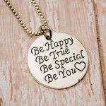 Be Happy Be You Necklace