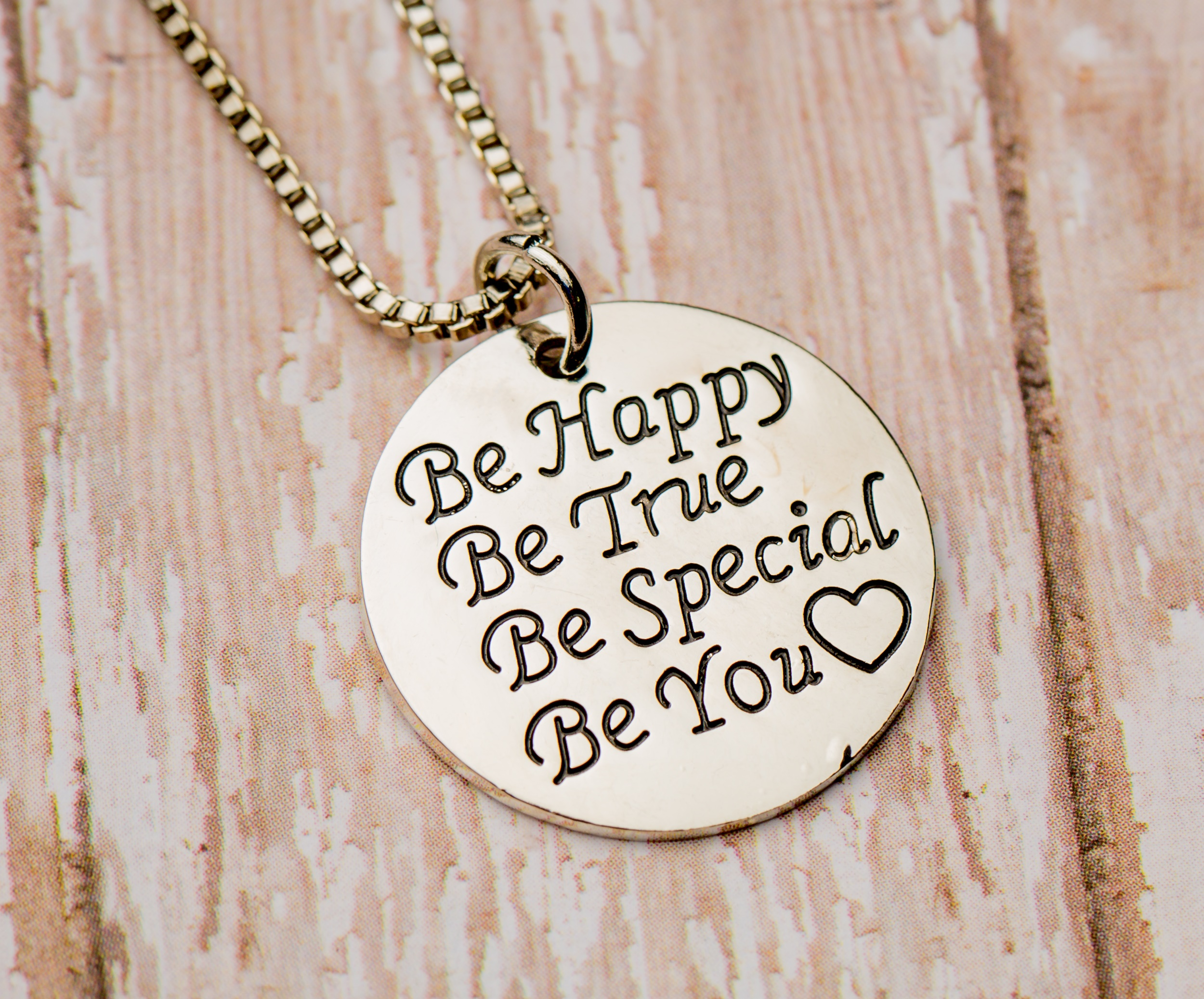 be happy be you necklace izzybell jewelry