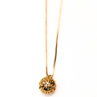 Essential Oil Diffuser Necklace Gold Small – Izzybell Jewelry
