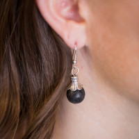 Essential Oil Diffuser Jewelry, Aromatherapy Earrings Lava Rock – Izzybell Jewelry (6)