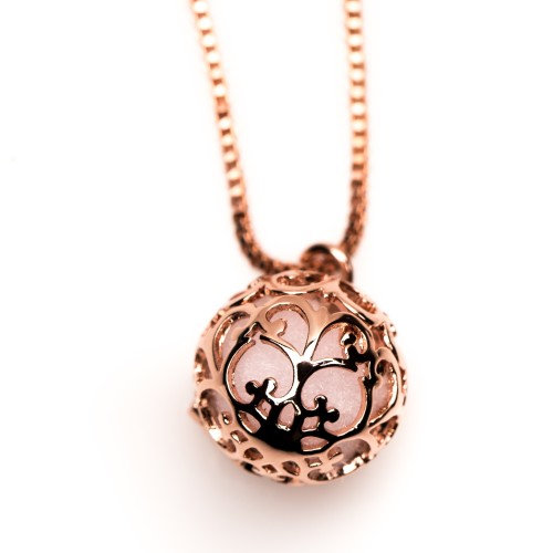 Essential Oil Diffuser Necklace Rose Gold Small – Izzybell Jewelry