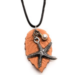 Essential Oil Diffuser Necklace Terracotta Pendant Starfish, Izzybell Jewelry