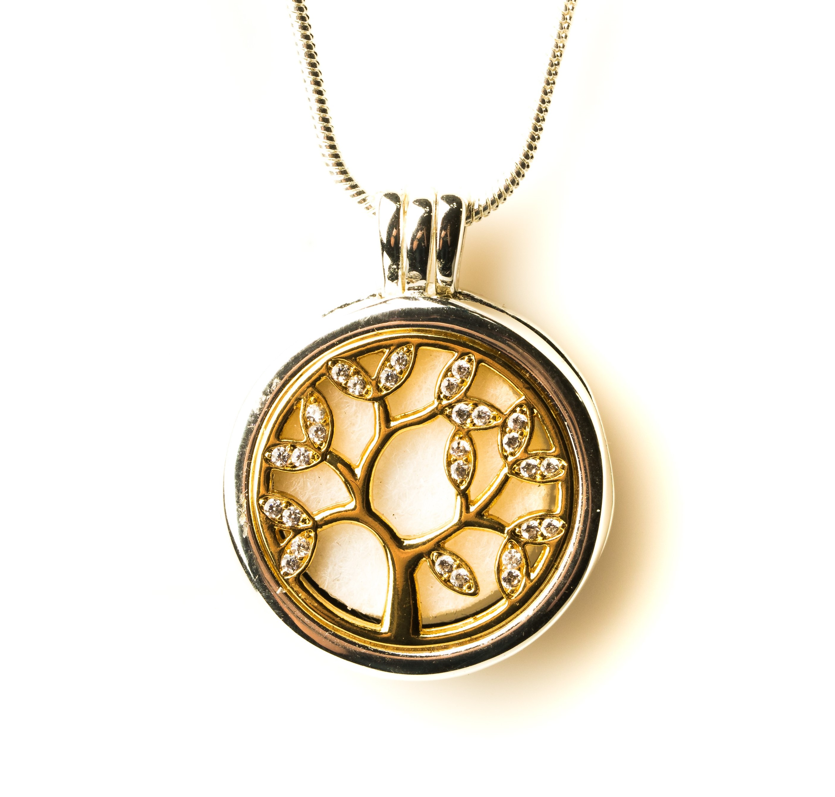Izzybell Two Tone Stainless Steel Tree of Life Necklace (2)