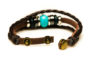 Teal Beaded Brown Leather Aromatherapy Bracelet, Izzybell Jewelry (3)