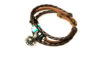 Teal Beaded Brown Leather Aromatherapy Bracelet, Izzybell Jewelry (9)